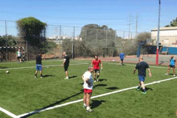 מגרש כדורגל של דשא סינטטי